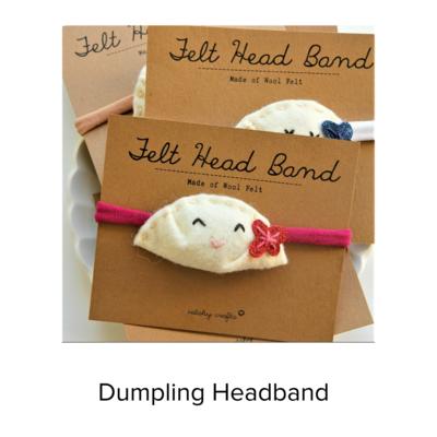 Catshy Crafts Dumpling Headbands