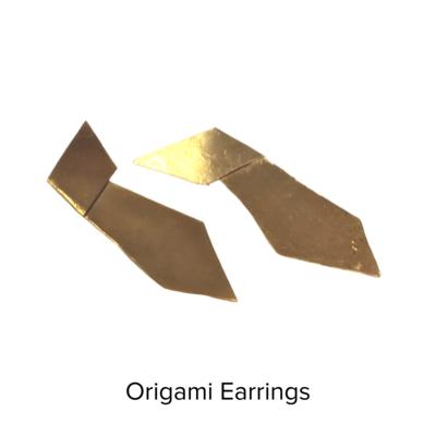 Susan Lorraine Short Origami Earrings
