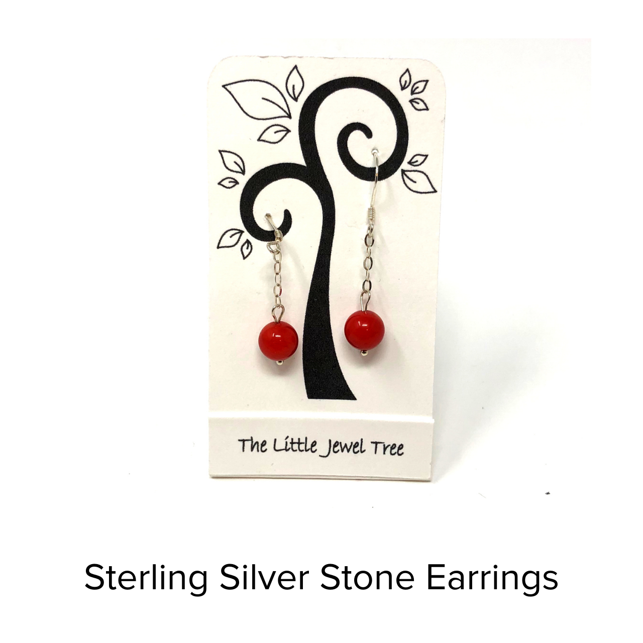 The Little Jewel Tree Chain and Stone Earrings