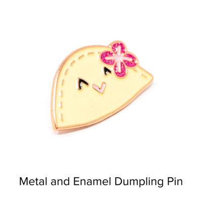 Catshy Crafts Enamel Dumpling Pin