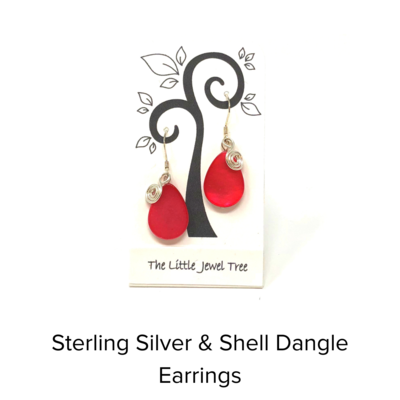 The Little Jewel Tree Charm and Spiral Earrings