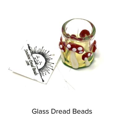Sunshine Glass Glass Dread Beads