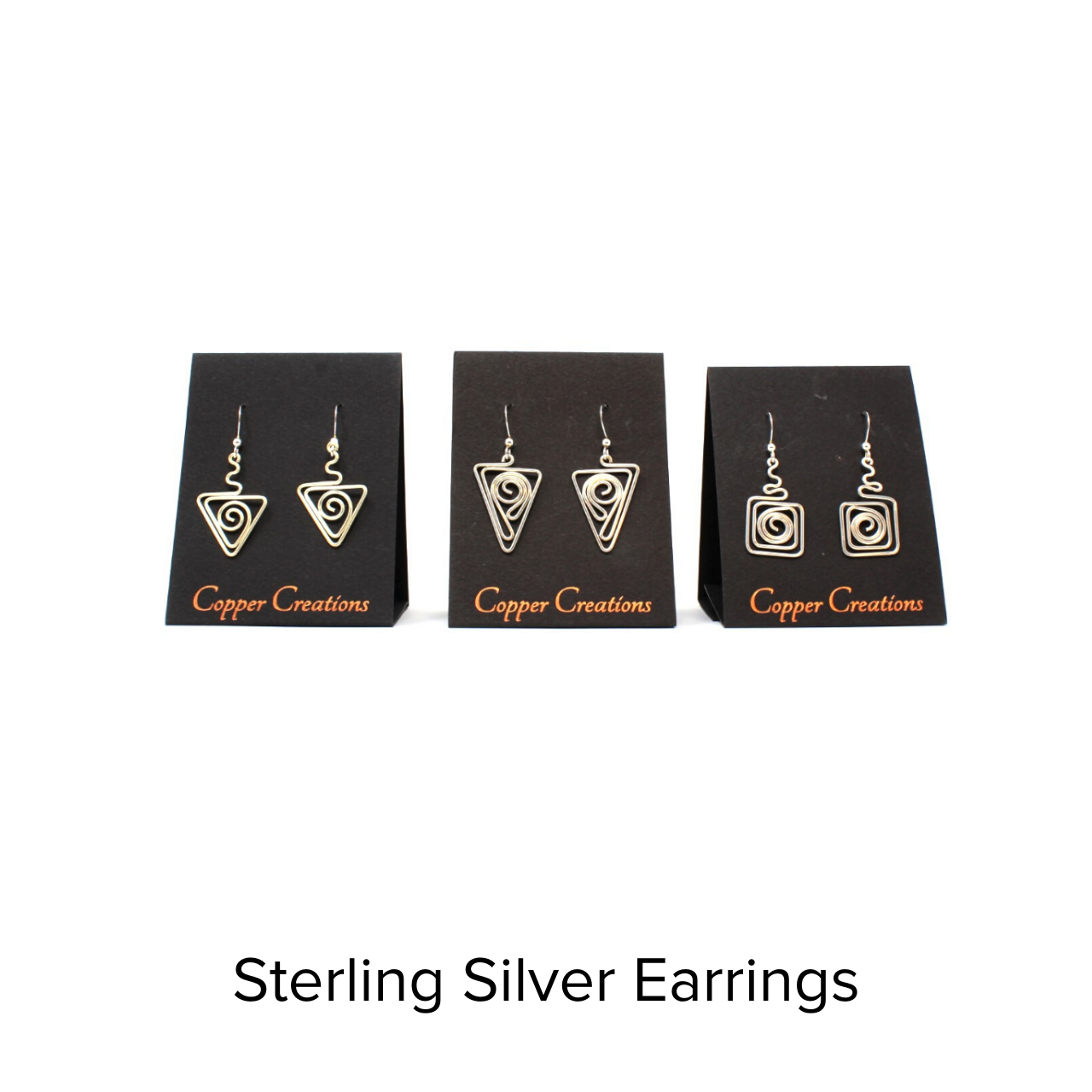 Copper Creations Sterling Silver Earrings