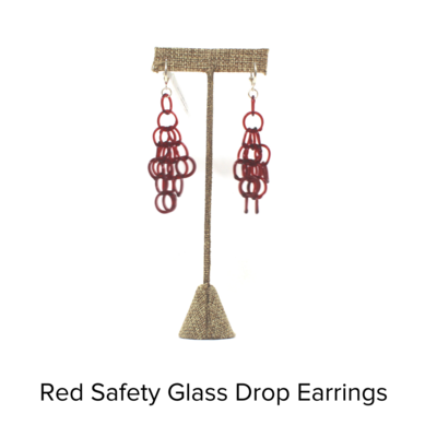 Inna Patina Glass Ring Large Chandelier Earrings