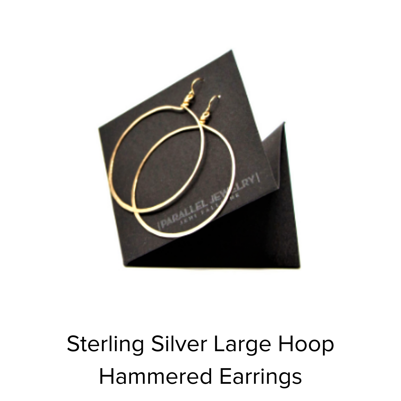 Parallel Sterling Silver Hammered Earrings