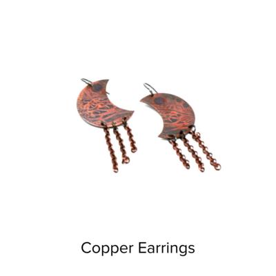Girl Seattle Copper Brass Earrings