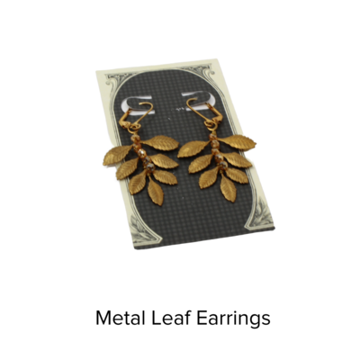Echo Artwork Vintage Metal 7 Leaf Earrings