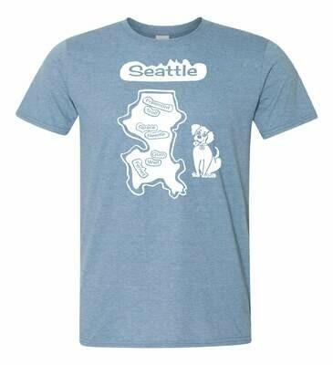 T-shirt Seattle Blue