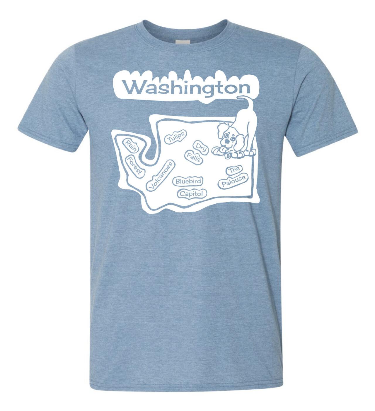 T-shirt Washington Blue