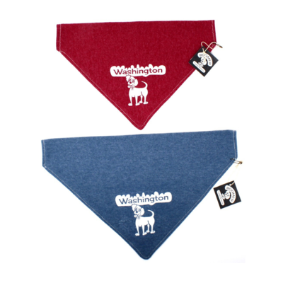 Dog Bandana WA State Blue