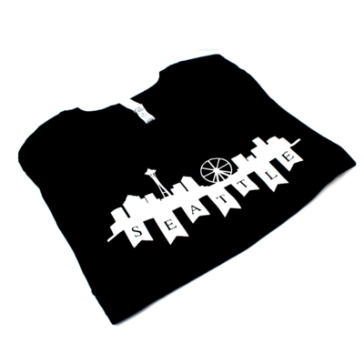 Miss Sun Creates T-shirt Seattle Skyline Blk