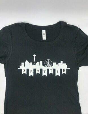 Miss Sun Creates Seattle Skyline T Shirt