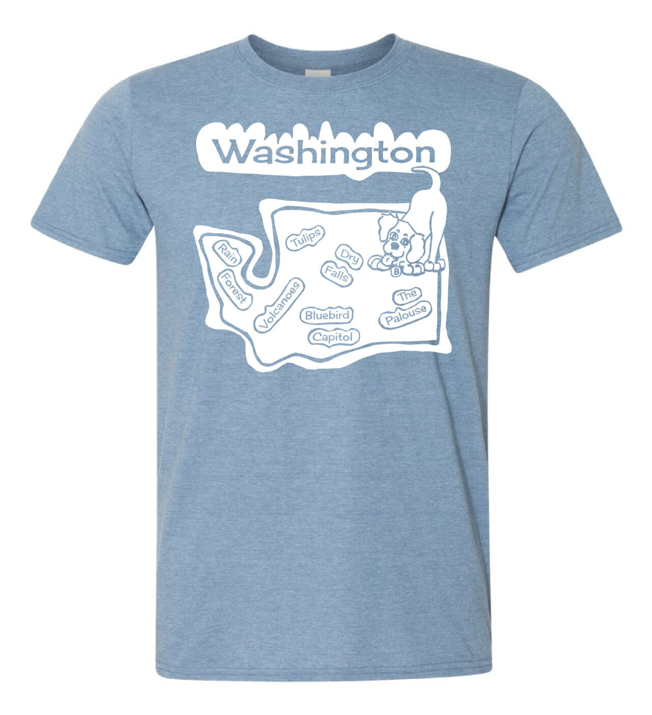 Boomer Travels America WA T Shirt in Red or Blue