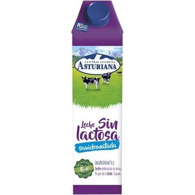 Leche sin lactosa semidesnatada ASTURIANA pack 6L