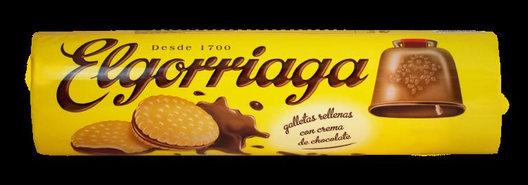 Galletas rellenas de chocolate ELGORRIAGA 2X90gr paquete