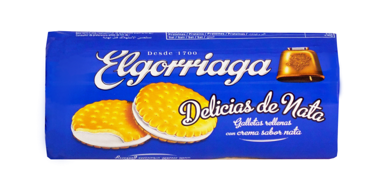 Galletas rellenas de nata ELGORRIAGA 2X90gr paquete