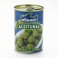 Aceitunas rellenas de anchoa DIAMIR 120gr