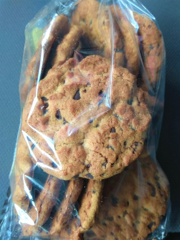 Cookies integrales con chocolate sin azucar bolsa