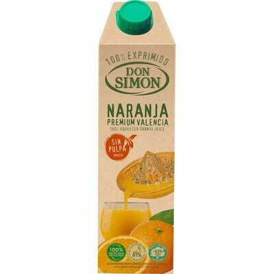 Zumo Natural DON SIMON Naranja Sin Pulpa 1L