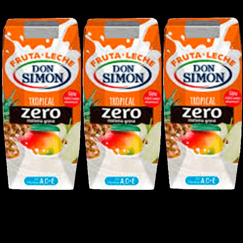 Fruta leche DON SIMON Tropical (pack 3 x 330 ml)