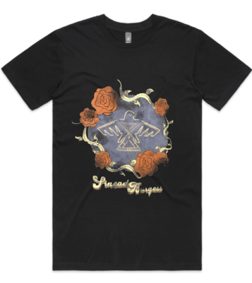 Sinead Burgess Vintage Roses Shirt BLACK (including shipping)