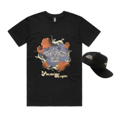 Sinead Burgess Thunderbird Cap/ Vintage Roses Shirt Combo (including shipping)