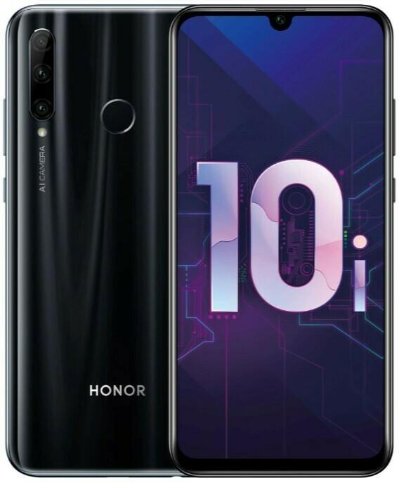 Смартфон Huawei Honor 10i 4/128Gb черный