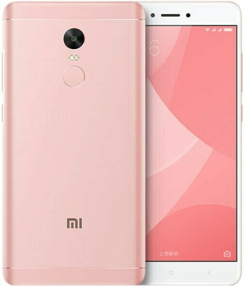 Смартфон Xiaomi Redmi Note 4X 3/16Gb розовый