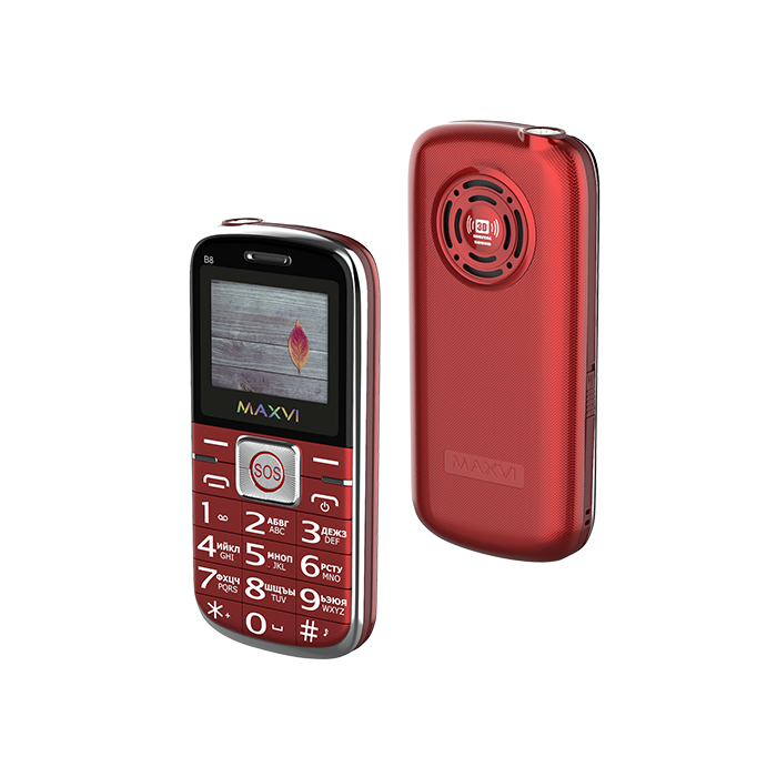 Сотовый телефон Maxvi B8 красный