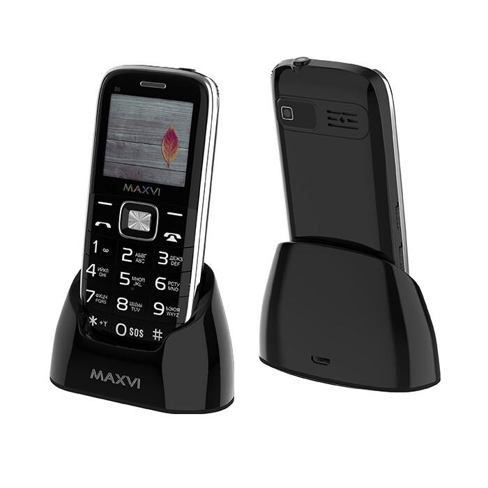 Сотовый телефон Maxvi B6 черный