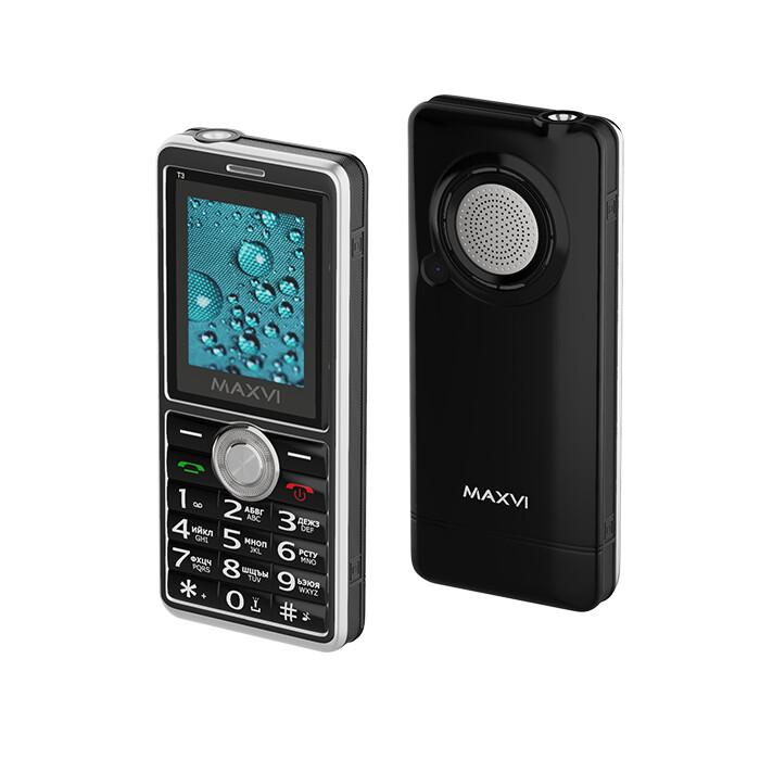 Сотовый телефон Maxvi T3 черный