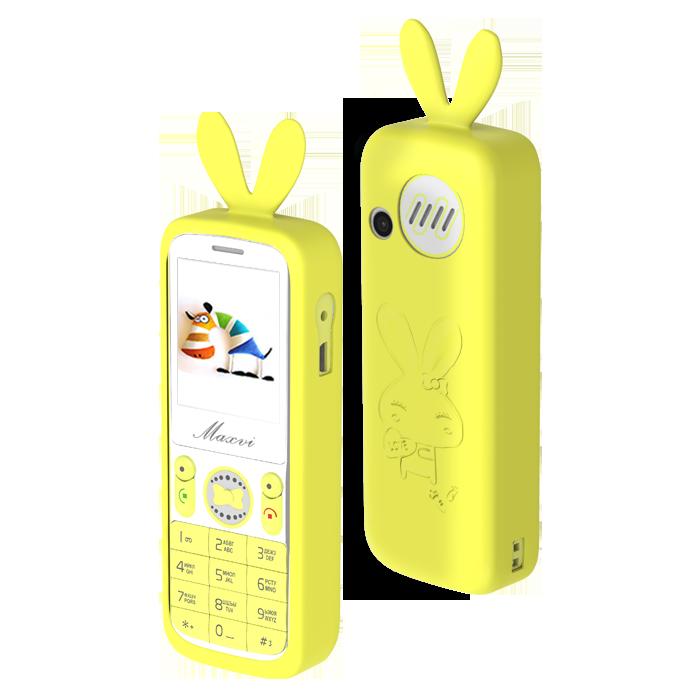 Сотовый телефон Maxvi J1 желтый