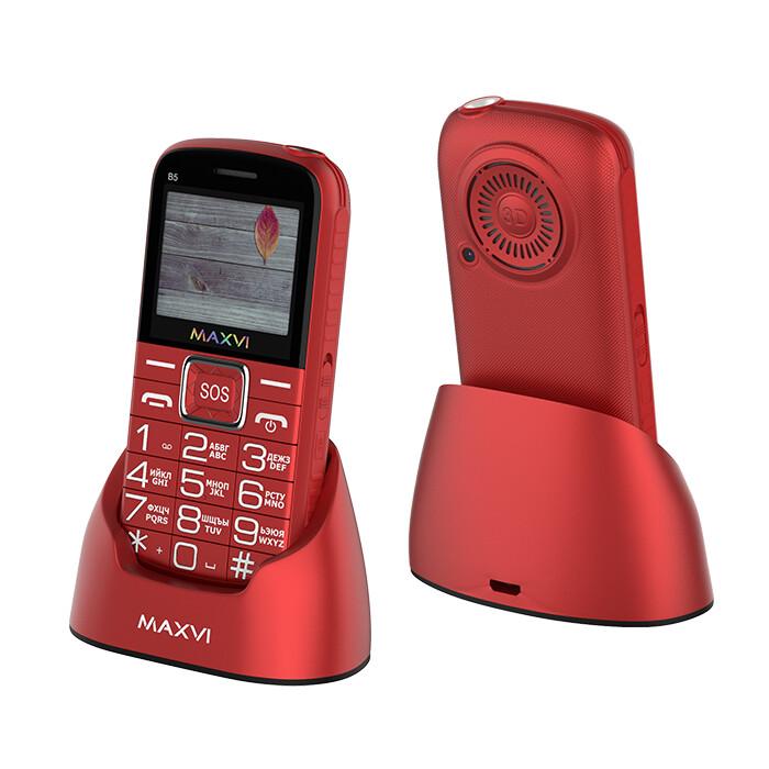 Сотовый телефон Maxvi B5 красный