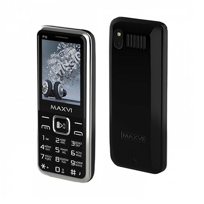 Сотовый телефон Maxvi P16 черный