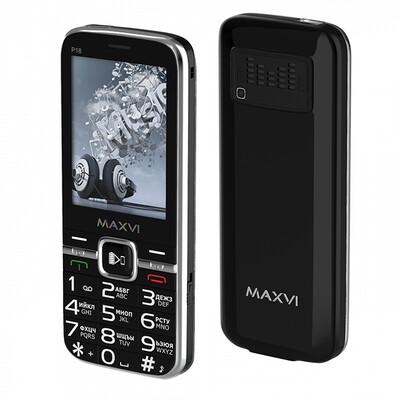 Сотовый телефон Maxvi P18 черный