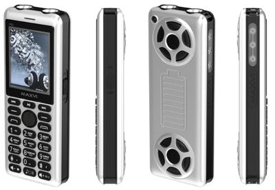 Сотовый телефон Maxvi P20 серебристый/черный