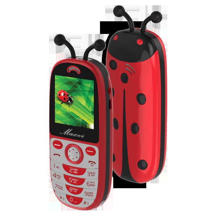 Сотовый телефон Maxvi J3 красный