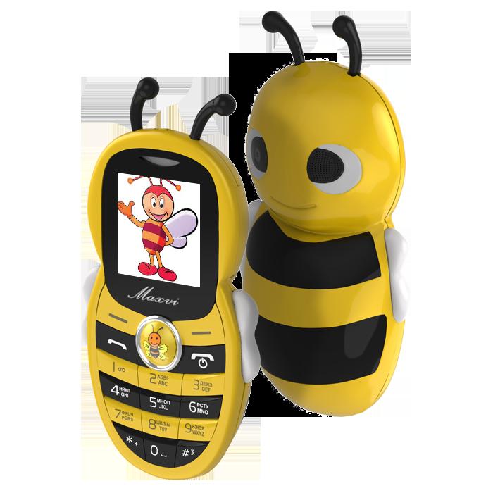 Сотовый телефон Maxvi J8 желтый