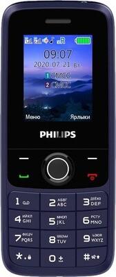 Сотовый телефон Philips Xenium E117 синий