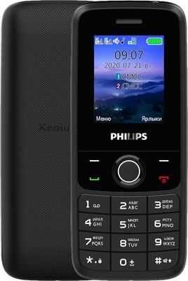 Сотовый телефон Philips Xenium E117 серый