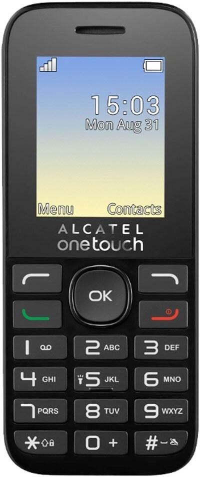 Сотовый телефон Alcatel One Touch 1020D черный/белый