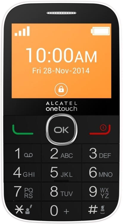 Сотовый телефон Alcatel One Touch 2004G черный