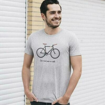 Joh Clothing | T-shirt Men - Ceci n´est pas un vélo (available in grey and white)
