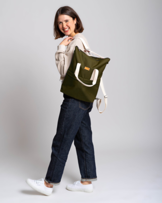 MULINU   Backpack GRETA olive green