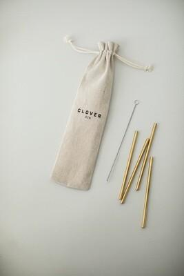 Clover Golden Straws