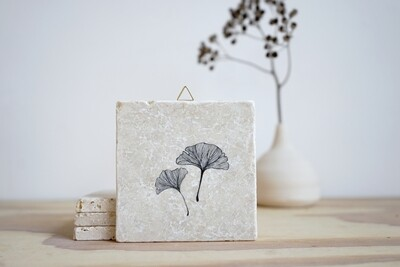 evimstore | Printed Natural Stone Tile - Ginkgo leaf