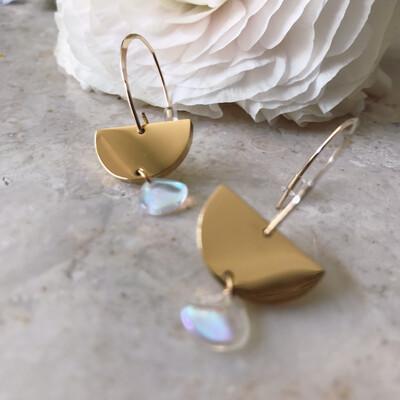 URBAN SWAG | Golden Ear Drops with Petal