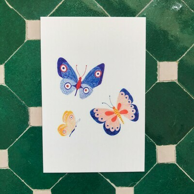 pink cloud studio | Butterflies Mini Card (6 x 9 cm)