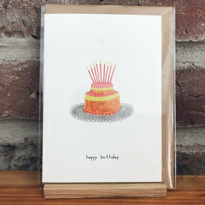 pink cloud studio | Birthday cards (folding card with envelope)