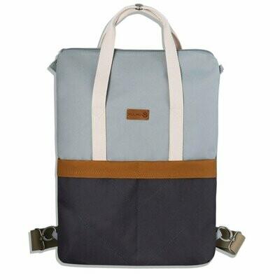 MULINU   Backpack GRETA light grey grey cinnamon